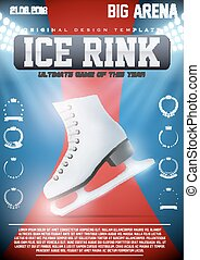 Poster Template of Ice Skating Rink - Poster Template Ice...