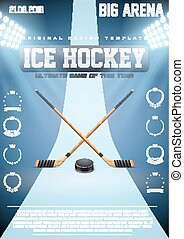 Poster Template of Ice Hockey Games - Poster Template Ice...