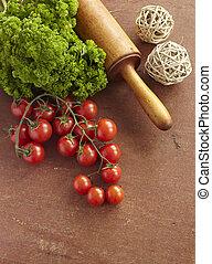 tomato parsley food vegetable vegetarian cooking