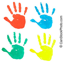 hand print color art craft trace pa
