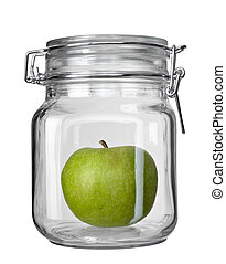 glass jar kitchen dish green apple fruit conservation ecology