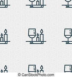 valentine's day meal icon sign. Seamless pattern with...