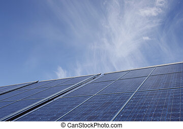 A stock photograph of solar?panels - A stock photograph of...
