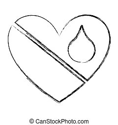 heart with blood drop icon