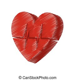 heart with cardiology icon