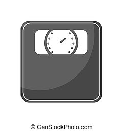 scale measure weight isolated icon