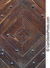 Wooden brown door pattern - Antique Wooden brown door...