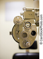 A stock photograph of an optometrists equipment