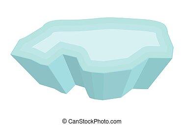 ice floe vector symbol icon design. Beautiful illustration...