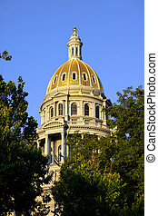 Colorado state Capital - Close up shot of Colorado state...