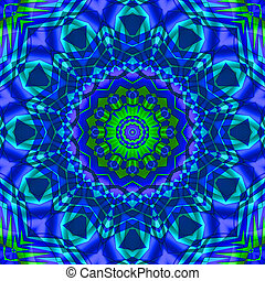 green blue kaleidoscope - yellow-red kaleidoscope for your...