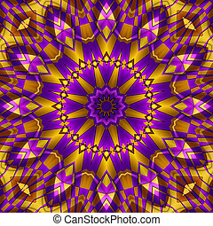 yellow purple kaleidoscope for moments of relaxation