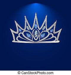 tiara with precious stones 3