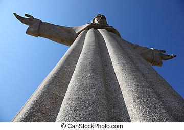 "Jesus Christ monument ""Cristo-Rei"" in Lisbon, Portugal"