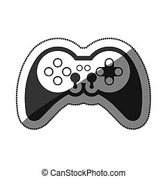 Isolated gamepad of videogame design - Gamepad icon....