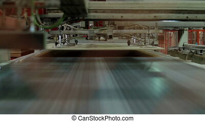 Automatic laminated chipboard production - furniture...