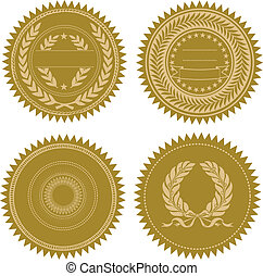Vector Award Seal Set - Set of vector gold seals Great for...