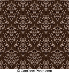 Vector Swirl and Circles Seamless Pattern