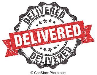 delivered stamp. sign. seal