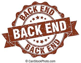 back end stamp. sign. seal