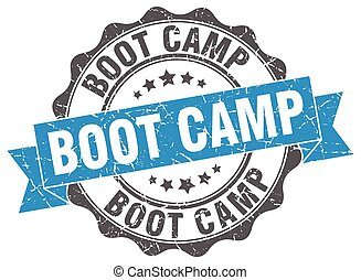 boot camp stamp. sign. seal