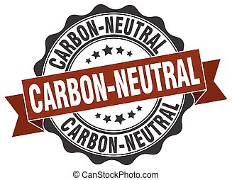 carbon-neutral stamp. sign. seal