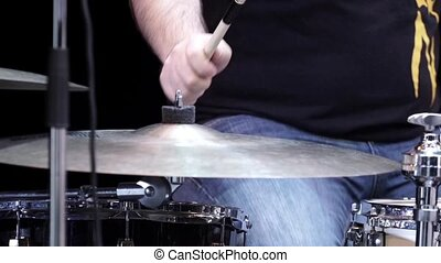 A drummer on the rock concert