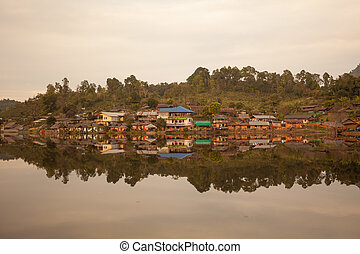 Ban Rak Thai Village in Mae Hong Son, Thailand