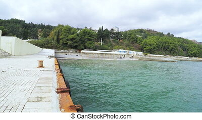 Marine concrete pier - In Black Sea marine concrete dock...