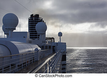Cruising In Fiordland - The early morning view of a cruise...