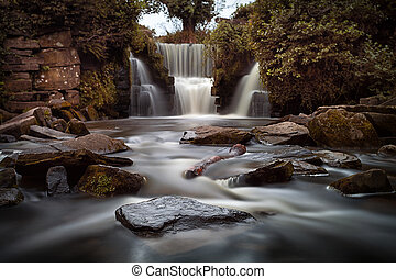Penllergare waterfalls - Long exposure of the waterfalls at...