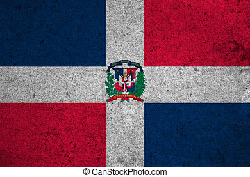 Dominican Republic flag on an old grunge background