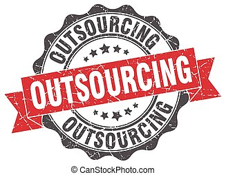 outsourcing stamp. sign. seal