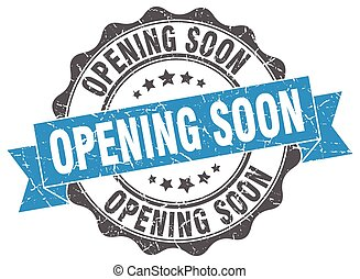 opening soon stamp. sign. seal