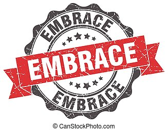 embrace stamp. sign. seal