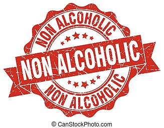 non alcoholic stamp. sign. seal