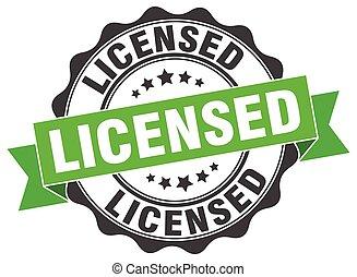 licensed stamp. sign. seal