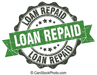 loan repaid stamp. sign. seal