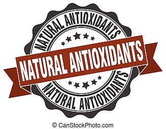 natural antioxidants stamp. sign. seal