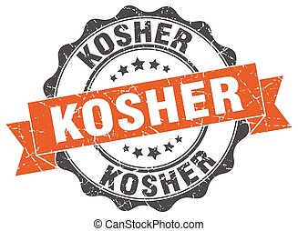 kosher stamp. sign. seal
