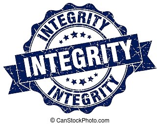integrity stamp. sign. seal
