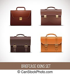 Briefcase icons set,