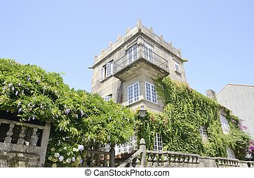Historical house in Cambados, a village of the province of...
