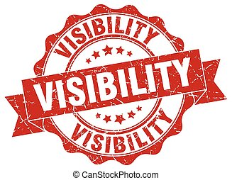 visibility stamp. sign. seal
