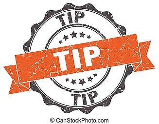tip stamp. sign. seal