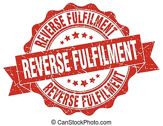 reverse fulfilment stamp. sign. seal