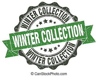 winter collection stamp. sign. seal