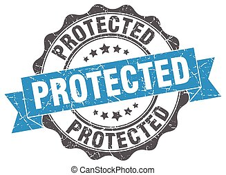 protected stamp. sign. seal