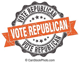 vote republican stamp. sign. seal