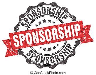 sponsorship stamp. sign. seal